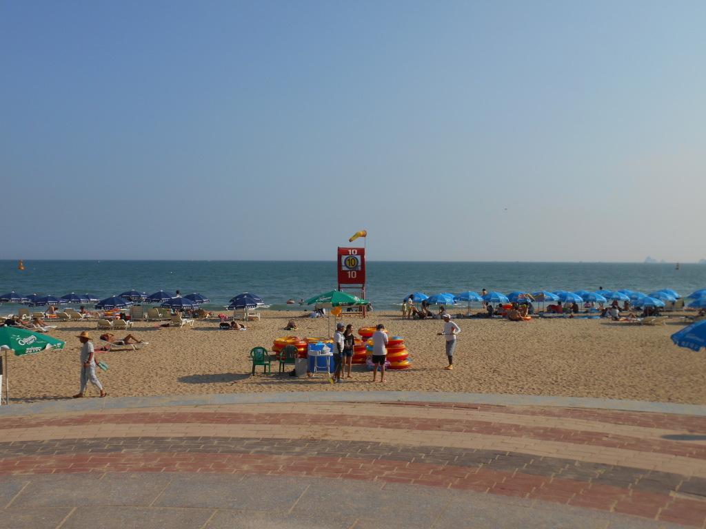 Strandwacht op Haeundae Beach